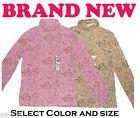 Womens Cotton Sport Comfortable Long Sleeve Paisley Ladies Turtleneck Shirt Top
