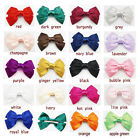 "1P X  5.7"" Big Cute Hair Satin Hair Bow Hair Clips Boutique Wedding Accessory"