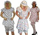 Aunt Sally Panto Dame Funny Seaside Bloomers Mophat Fancy Dress Costume
