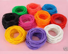 15X Gummies Rubber Shag Bands Bracelets Bangles 10color