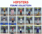 15 NEW HIPSTERS MINI CAKE TOPPER FIGURINES YOU PICK