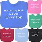 Me + Dad Love EVERTON Baby Clothes Velcro Bib 1 Size