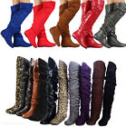 Kyпить Womens Over Knee Thigh High Slouch Suede Flat Boots Choose Size на еВаy.соm