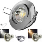3 - 12er Sets LED Einbauspots Timo 230V Strahler HV Downlights 5W Spots - WARML.