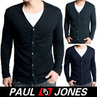 Men's Stylish Causal Long Sleeve cotton Cardigan T-Shirt US:Size XS~L 3Colors