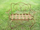 Wrought Iron Child's Swirl Loveseat - Childrens Bench Seating - Furniture