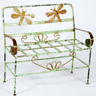 Wrought Iron Child's Dragonfly Bench Seat - Childrens Bench Seating - Furniture