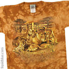 NEW Youth & Adult Nature Exotic Wildlife Lion Family Tie Dye Shirt S M L XL 2X