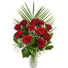 ROSES: 12 Fresh Grand Prix Rose Classic or Luxury Bouquet with FREE Delivery