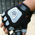 Brand NEW Cycling Bike Bicycle half finger Silicone gloves M--XL Gray