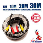 Ready(Pre) Made Video Audio Power CCTV to DVR System Cable 2x(5M, 10M, 20M, 30M)