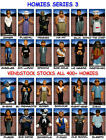 HOMIES RETIRED SERIES 3 -  CHOICE OF 24 NEW FIGURES -  YOU SELECT FIGURE(S)