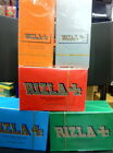 20 PACKS RIZLA REGULAR ROLLING PAPERS, CHOOSE YOUR COLOUR