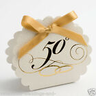 Antique White Pelle 50th Golden Anniversary Wedding Favour Box