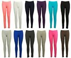 WOMENS NEW PLUS SIZE STRETCH TROUSERS LADIES PLAIN ELASTICATED LONG LEGGINGS