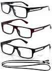 Rectangular Reading Glasses Retro Readers Solid Color Framed