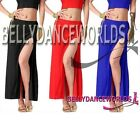 BELLY DANCE COSTUME SEXY SLIT SKIRT BOLLYWOOD DANCING WEAR FASHION STRAIGHT CUT