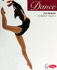 CHILDRENS SHIMMER STIRRUP DANCE TIGHTS IN TOAST/LIGHT TOAST COLOUR AGES 5 - 13