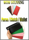 DIVA Clutch Coin Purse Wallet Ladies Pink Black Green Red Zip Bags Money Leather
