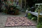 Versailles Chocolate & Tan Indoor & Outdoor Rugs Mats - Many Sizes, Recycle