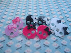 FUNKY PUNK GIRL SKULL EARRINGS KITSCH CANDY GOTH EMO BOW PIRATE PICK COLOUR