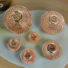 Findings Spacer Beads Round Mesh Net Rose Gold Plated 12mm 14mm 16mm 20mm 25mm