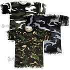 Mens Camouflage Army Military Training T Shirt Short Sleeve Top Sizes M-5XL