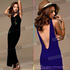 NEW Womens Bridesmaid Sexy Backless Long Cocktail Evening Maxi Dress E317