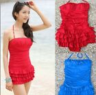 2 Colors New Style Layered Ruffle One Pieces Chic Sexy Bikini Swimsuit Bath Suit