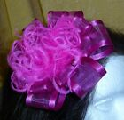 "5"" Large Deluxe Layered Custom Satin Organza Ribbon Flower Puff Hair Bow Clip!"