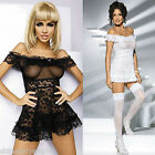 SEXY LINGERIE BRIDAL HONEYMOON BABYDOLL SLEEPWEAR WEDDING GIFT WHITE/BLACK DRESS