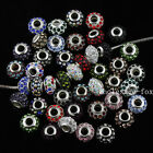 Czech Crystal Spacer Findings Big Hole European Charm Beads Fit Bracelet Jewelry