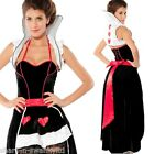 Ladies Deluxe Queen of Hearts Alice in Wonderland Fancy Dress Costume Outfit
