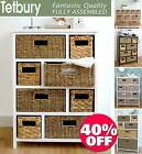 Tetbury Large Storage Unit with wicker baskets,Bathroom storage, Hallway storage