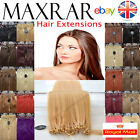 "50 MICRO LOOP REMY HUMAN HAIR EXTENSIONS 18"" ( silicon ring u stick tip  bond )"