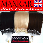 "75 MICRO LOOP REMY HUMAN HAIR EXTENSIONS 18"" ( silicon ring u stick tip  bond )"
