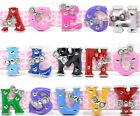 10 Enamel Letter Charm Beads Fit Watch Band M0357