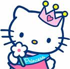 HELLO KITTY PRINCESS CAKE TOPPER  +PERSONALISED FREE+FREEPOST(UK)