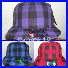 BRAND NEW FLAT PEAK FITTED PLAIN CHECKED BASEBALL CAP WITH TAGS AND STICKERS