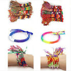 Bulk 15x Mixed jewelry lot Colorful Braid Friendship Cords Lucky Bracelet Pick
