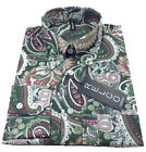 Paisley Vintage Fit Shirt by Relco  60s Button Collar - Green - Mod/Skin - NEW