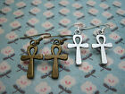 FUNKY ANKH CROSS EARRINGS RETRO RELIGIOUS VINTAGE FAITH TREND GOTH ROCK EMO UK