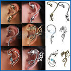 Gothic Punk Snake/Skull/Dragon Temptation Ear Cuff Wrap Long Curve Earring Studs
