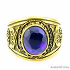 Gothic Mens Gold Tone Zircon 316L Stainless Steel Ring R5V21D