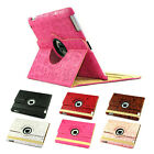 360° Rotating Leather Case Girl magic Cartoon pattern Smart cover stand iPad 2 3