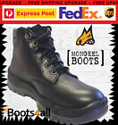 New Mongrel Men's Work Boots Safety Steel Toe Black Lace Up ON SALE 260010