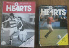 1980-81 Hearts/Heart of Midlothian Home Programmes *Pick Opponents*