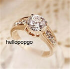 18K Rose Gold GP Austrian Crystal Wedding Jewelry Ring Size 6,7,8,9  BR1139