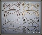 Black Bronze Gold or Silver Plated Earwires & Headpins Sets Jewellery Making Kit