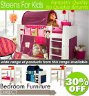 Steens Highsleeper, Midsleeper, Bunk Beds, Wardrobes, Bookcase, Desk, Chest